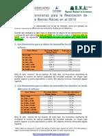 Honorarios 2010 Avalúos Hipotecarios Ley 546-99 y Decreto 466-2000