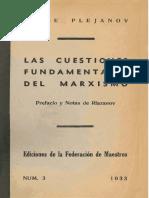 Plejanov, Las Cuestiones Fundamentales Del Marxismo (1907), Prefacio y Notas de Riazanov