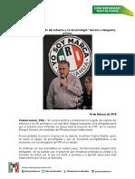 16-02-16  'Mi Carrera Ha Surgido Del Esfuerzo y No Del Privilegio' Enrique Serrano