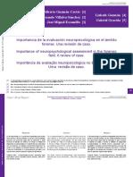 Estudio de caso en Neuropsicología Forense