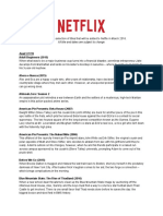 Netflix new releases March