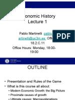 Lecture 1 Economic History UC3M