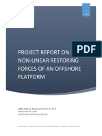 paper on non-linear restoring forces of an offshore platform - ahmed islam