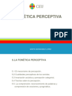 5. La Fonética Perceptiva y La Comprensión.