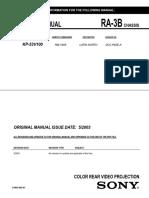 Manual Sony Kp-53v100