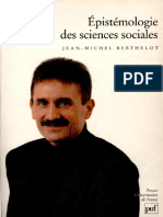 Berthelot Jean Michel - Les Sciences Du Social