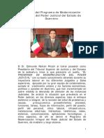 Síntesis del Programa de Modernización Integral del Poder Judicial del Estado de Guerrero