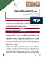 ARGOTT Cisneros Lucero (2011) La Licenciatura en Pedagogía UNAM FES Aragón El Docente en El Trabajo Curricular