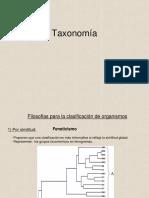 - Taxonomía