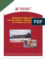 Manual de Operación Centro de Acopio