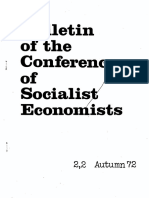 Conference of Socialist Economists Bulletin Autumn 1972