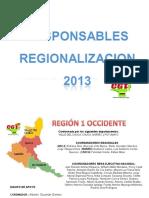 RESPONSABLES EN LAREGIONALIZACION 2013.ppt