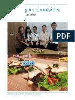 emulsifier lab report