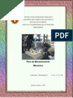Trabajo de Plan de Mantenimiento Mecánico