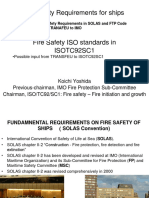 Fire Safety Requirements for Ships