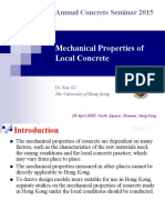 5 Mechanical Properties of Local Concrete by Dr Ray Su
