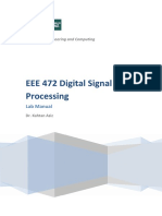 Eee472 Dsp Lab Manual