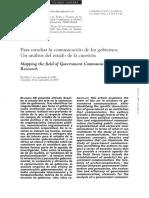 Para estudiar la comunicación de los gobiernos. Un análisis del estado de la cuestión