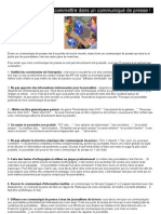 13 moyens de rater son communiqué de presse