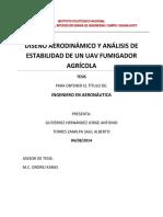 Diseño Aerodinámico y Análisis de Estabilidad de Un Uav Fumigador Agrícola