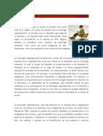 Historia de La Psicologia Organizacional