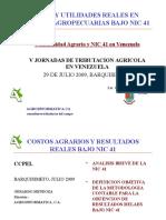 GERARDO MENDOZA Costos y Utilidades Reales Bajo NIC 41-V Jornadas