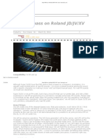 Deep FM Bass on Roland JD_JV_XV Series