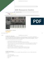 Roland JD-800 Resource Centre