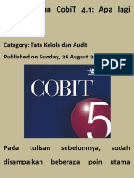 CobiT 5 Dan CobiT 4.1 Apa Lagi Bedanya