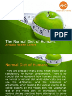 The Normal Diet of Humans