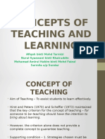 meaning of Teaching & Learning