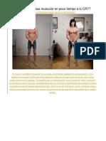 Cómo Ganar Masa Muscular en Poco Tiempo a Lo CR7