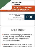 Fraktur Cruris lapsus referat