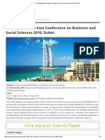 Australia-Middle East Conference on Business and Social Sciences 2016, Dubai