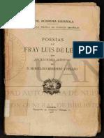 Poesias Luis de Leon