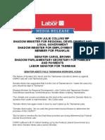 Senator Abetz Fails Tasmanian Workers, Again