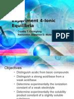 Expt 4-Ionic Equilibria
