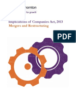 Companies Act-Mergers and Restructuring