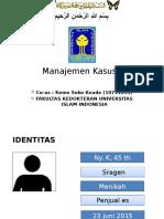 Slide Manajemen Kasus  Tht