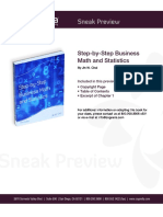 Step by Step Business Math and Statistics Sneak Preview