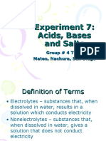 Expt 7-Acids, Bases and Salts