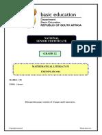 Mathematical Literacy P1 GR 12 Exemplar 2014 Eng