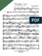 Six_duos-flute Wilhelm Bach