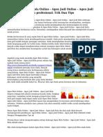 Menikmati Agen Bola Online - Agen Judi Online - Agen Judi Bola Mirip Untuk A profesional