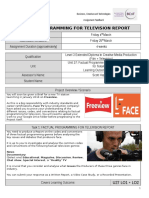U27 LO1+LO2 FACTUAL PROGRAMMING FOR TELEVISION – REPORT Brief