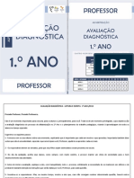 Avaliacao Diagnostica Professor 1ano 2015