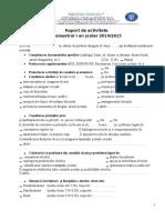 0 Raport de Activitate Prof. Diriginte