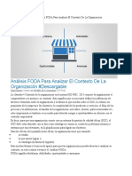 FODA 1 Analysis