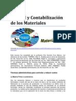 Control y Contabilización de Los Materiales
