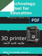 3d printer - aisha   shaikha